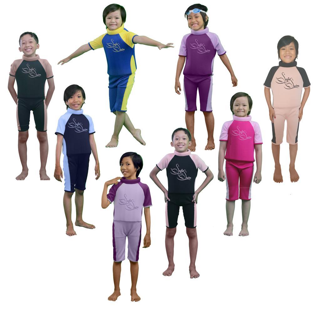 Baju Renang Anak Apung SafeSwim M1 Blue Yellow - 2