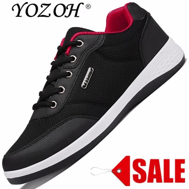 Harga Yozoh Hot Sale Menjalankan Sepatu Untuk Pria Sport Sneakers Kap Sneaker Murah Terang Menjalankan Breathable Slip On Hitam Intl Baru