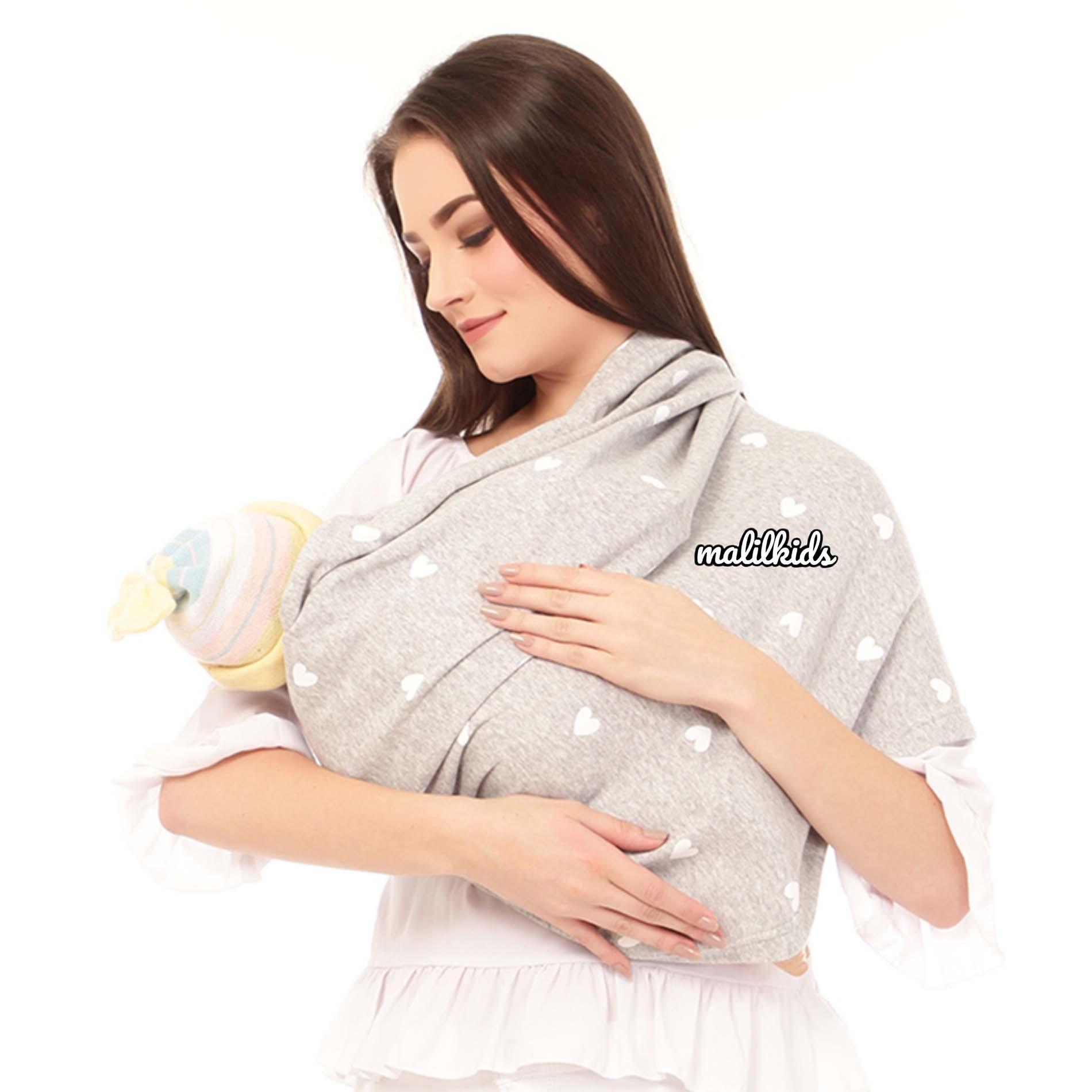 Fitur Gratis Pouch! Size L Malilkids Geos Gendongan Kaos Premium Gendongan Instan Model Big Love Grey Dan Harga Terbaru Pebruari 2019