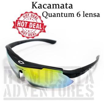Harga Penawaran Kacamata Quantum 6 Lensa Gowes Sepeda Motor Airsoft  discount - Hanya Rp108.904 e1526a345c