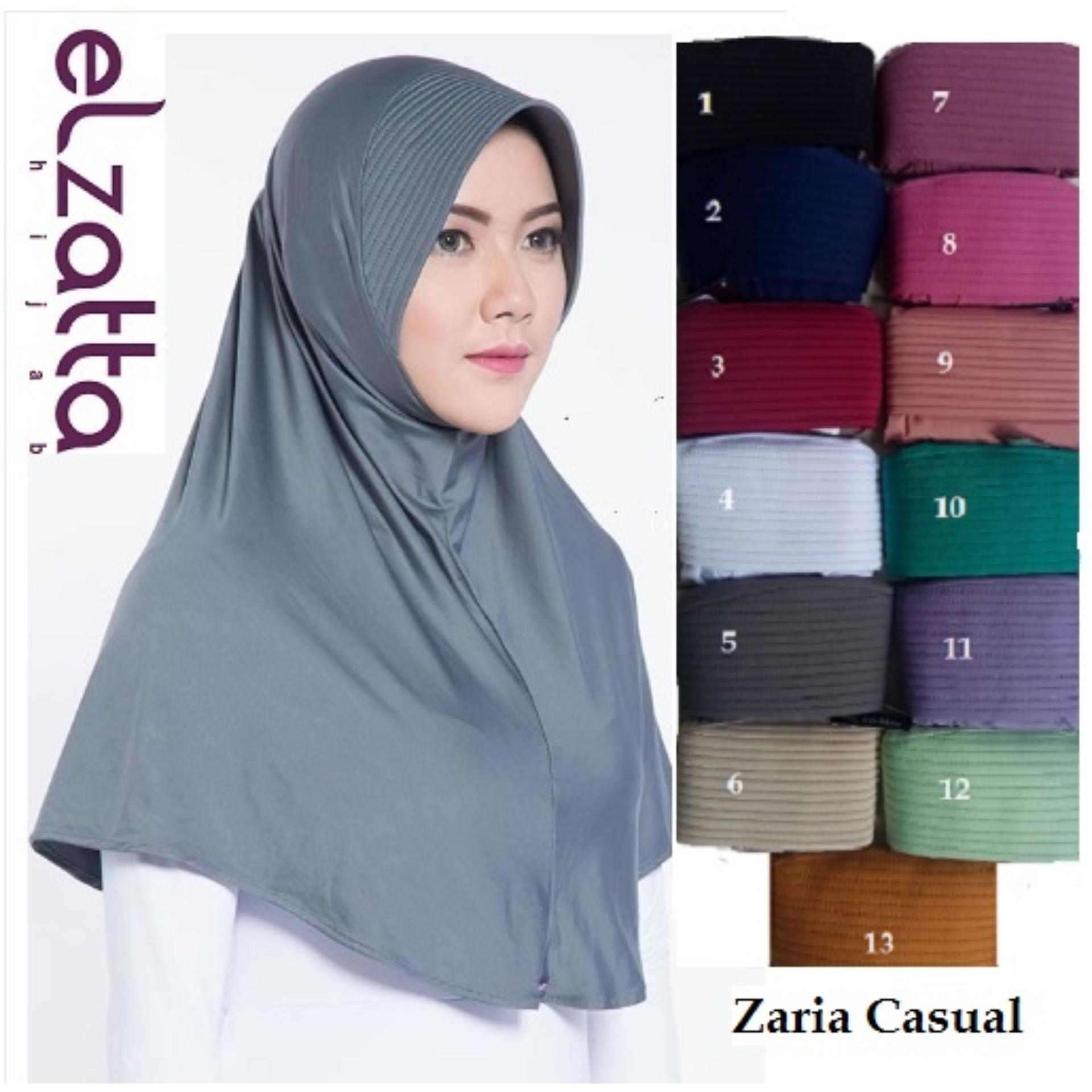 Kelebihan Jilbab Bergo Original Kerudung Elzatta Zaria Sahara Casual