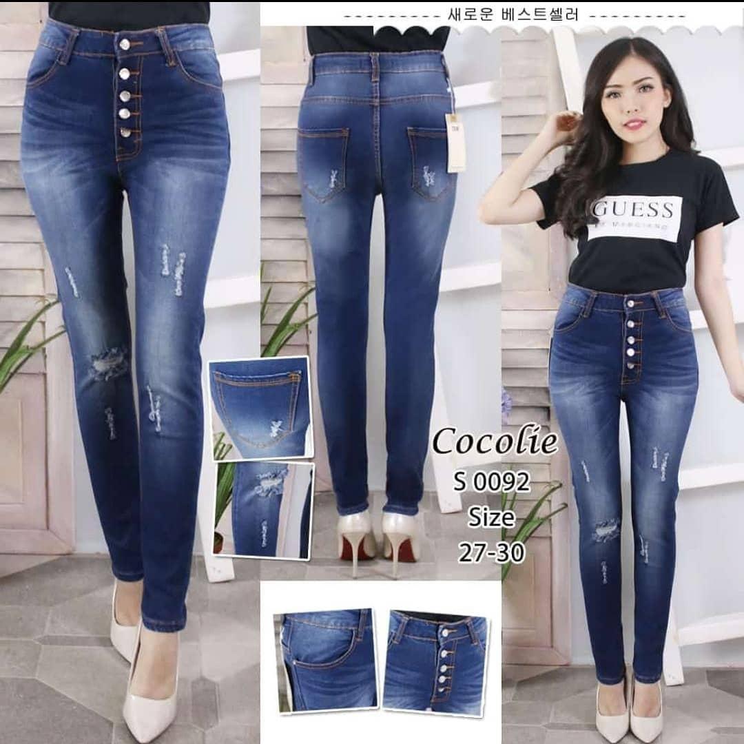 Fitur Highwaist Jeans Kancing 5 Hitam Dan Harga Terbaru Harga