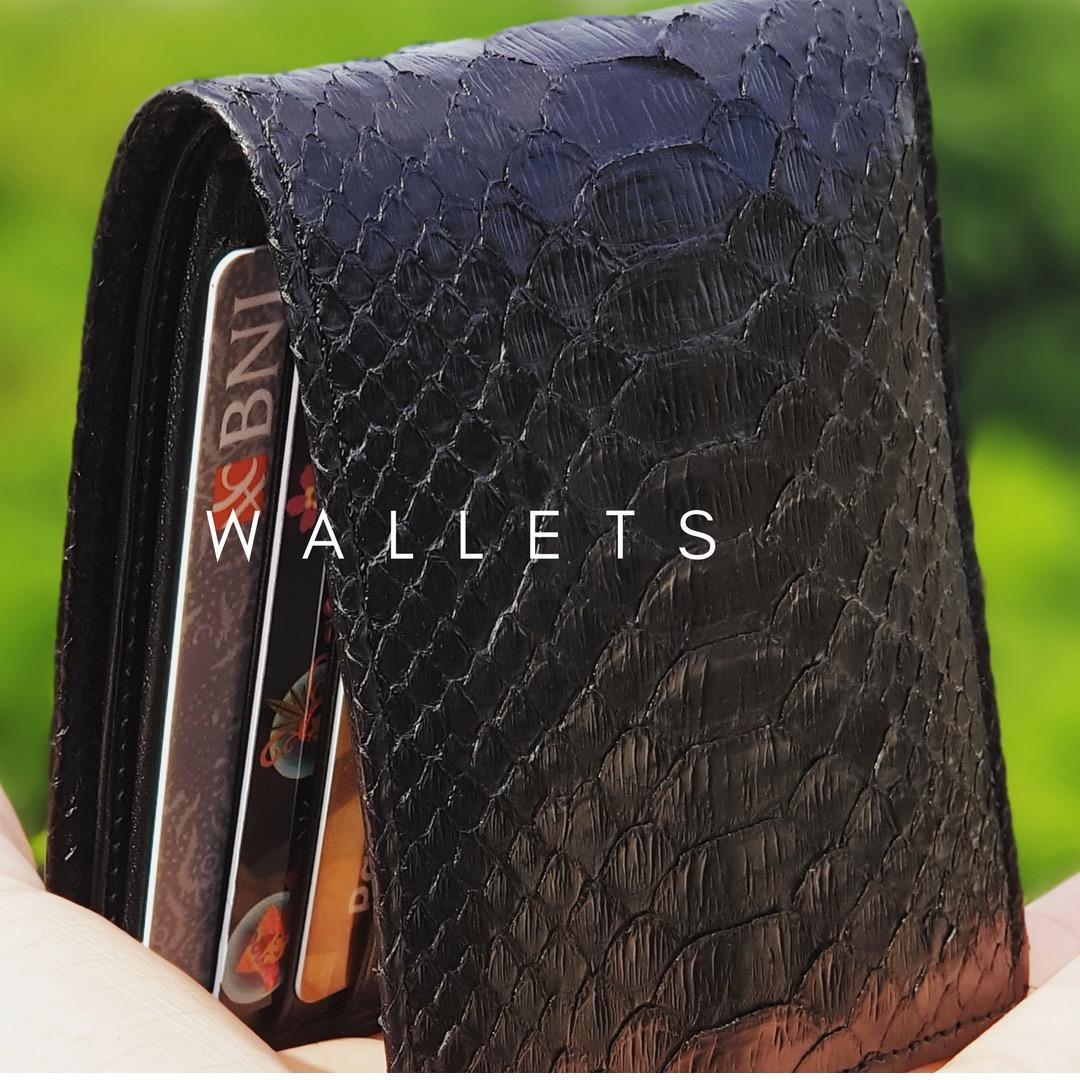 Fitur Dompet Kulit Biawak Kombinasi Ular Asli Model Multi Pria Phyton Warna Natural Bifold Mewah 100 Pyhton Genuine