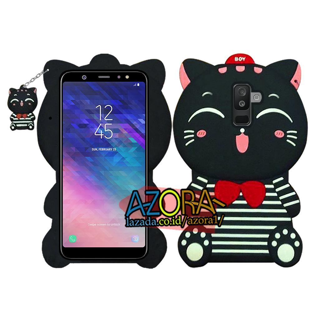 3D Case Samsung Galaxy A6 Plus Softcase 4D Karakter Boneka Hello Kitty Doraemon Lucu Character Cartoon
