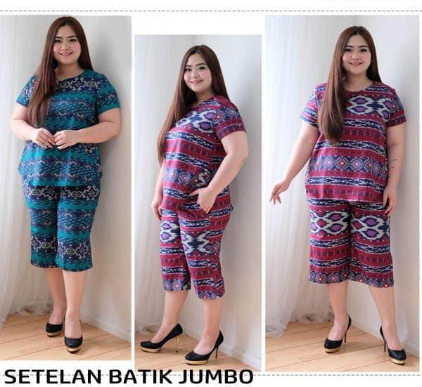 Features Baju Gamis Batik Wanita Ukuran Jumbo Setelan Batik Jumbo