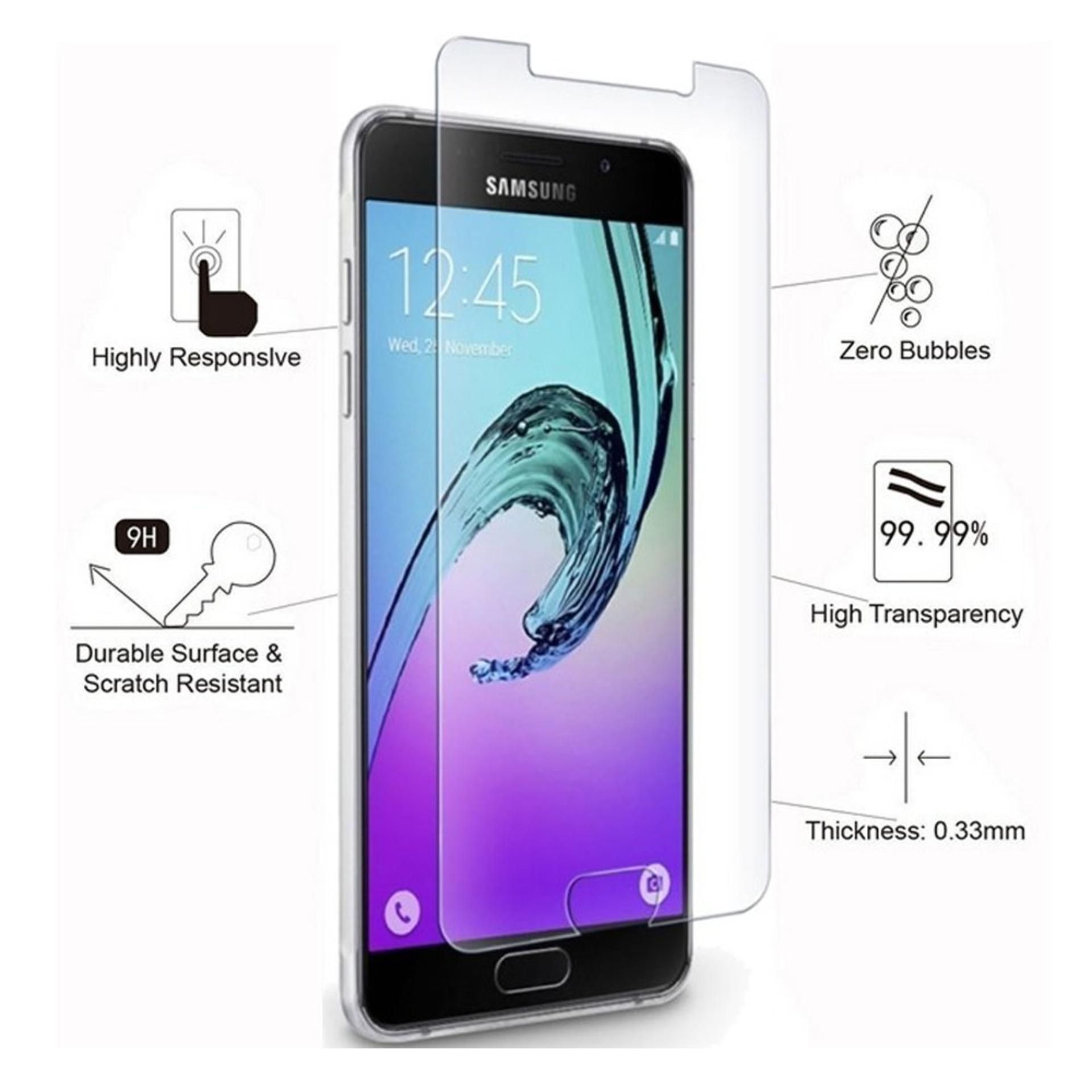 Tempered Glass Samsung Galaxy A3 2016 A310  Screen Protector / Pelindung Layar Tab / Anti-bubbles, Scratch Resistant / Temper Samsung - Clear