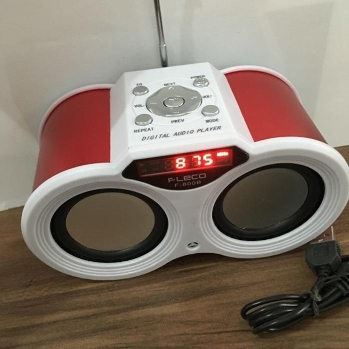 ... Speaker Teropong Pemutar Musik MP3 Fleco F800B Radio Digital Tombol - 3 ...