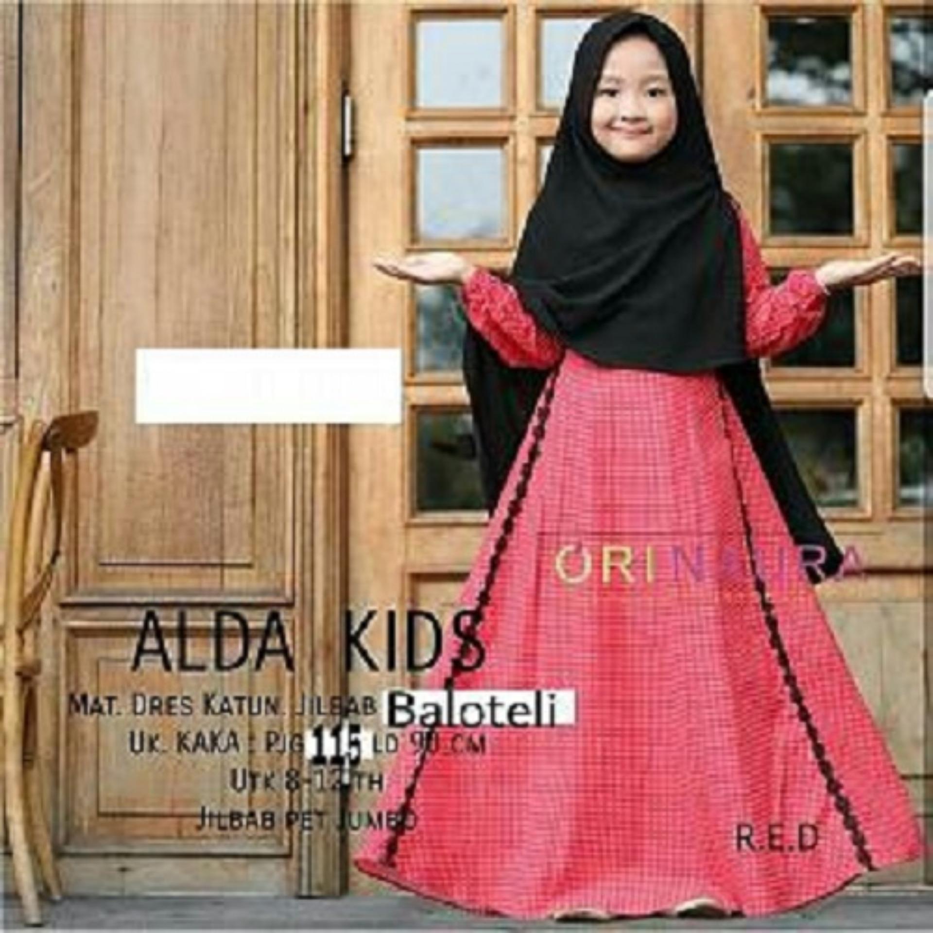 Cek Harga Baru Gamis Anak Ori Naura Terbaru Alda Kids Plus Jilbab