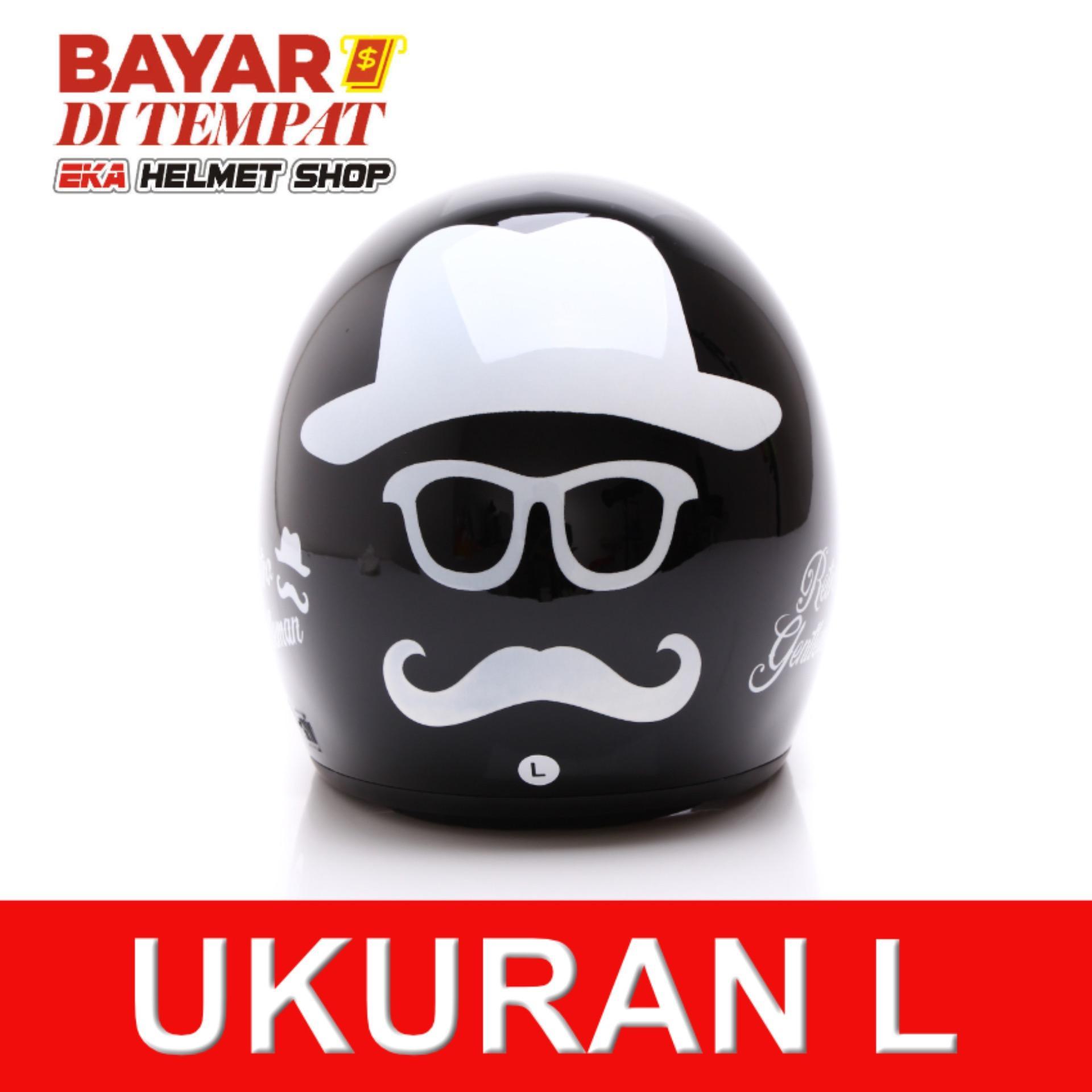 Spesifikasi Wto Helmet Retro Bogo Gentleman Hitam Terbaru
