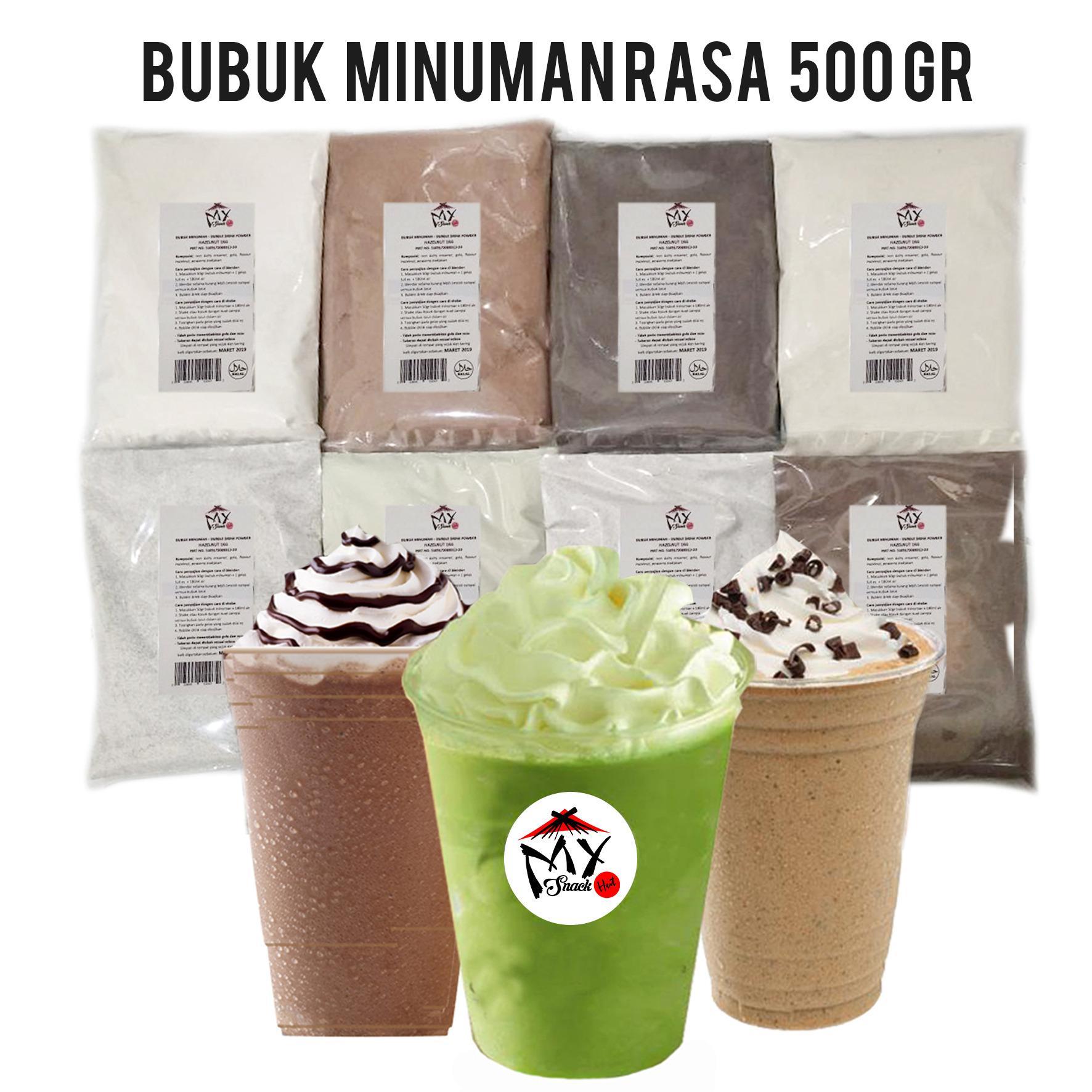 BUBUK MINUMAN RASA 500GR - BUBBLE DRINK - MILKSHAKE - ICE BLENDED POWDER - SERBUK CAPCIN - POP ICE