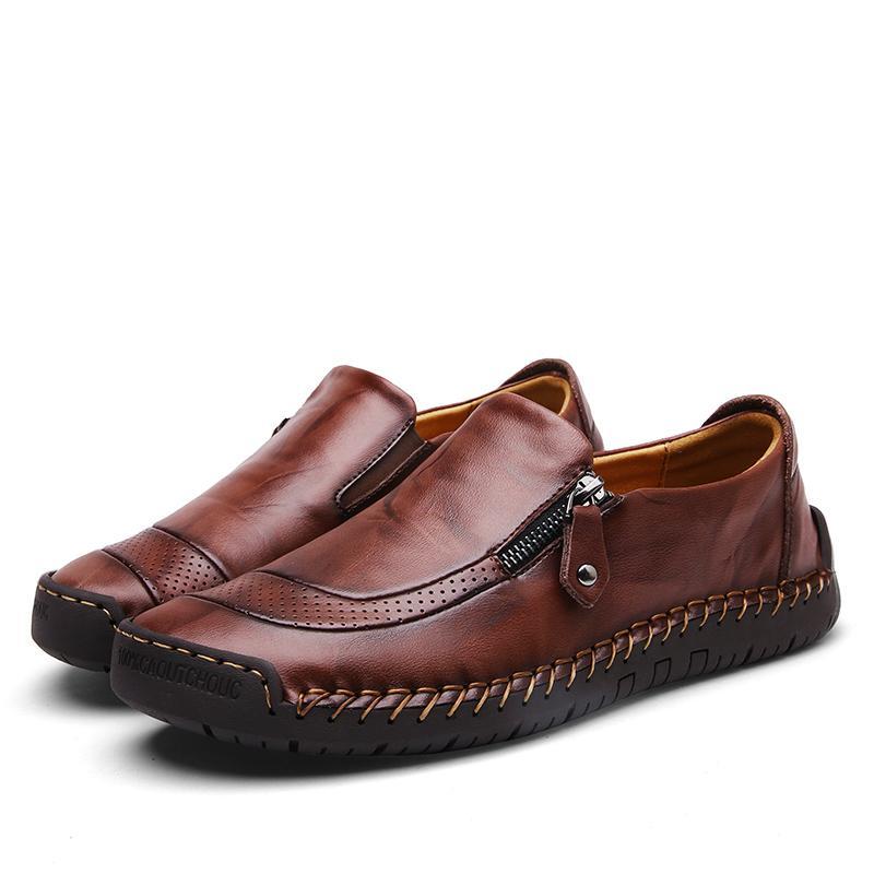 Danji Pria Kulit Asli Sepatu Formal Sepatu Kasual Sepatu Bisnis Sepatu Sepatu Slip-on .
