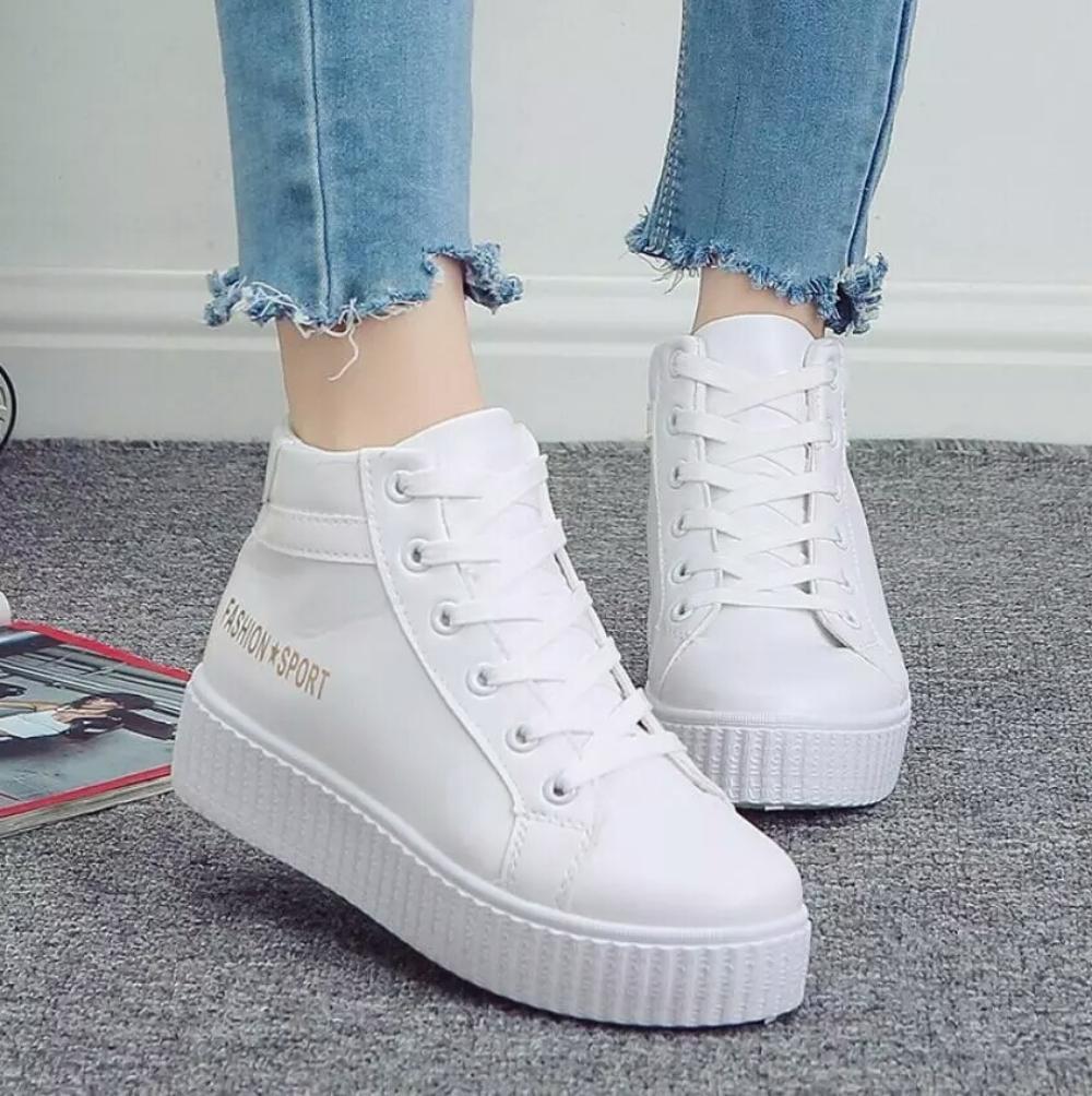 Sepatu Bot Fashion Sport Putih