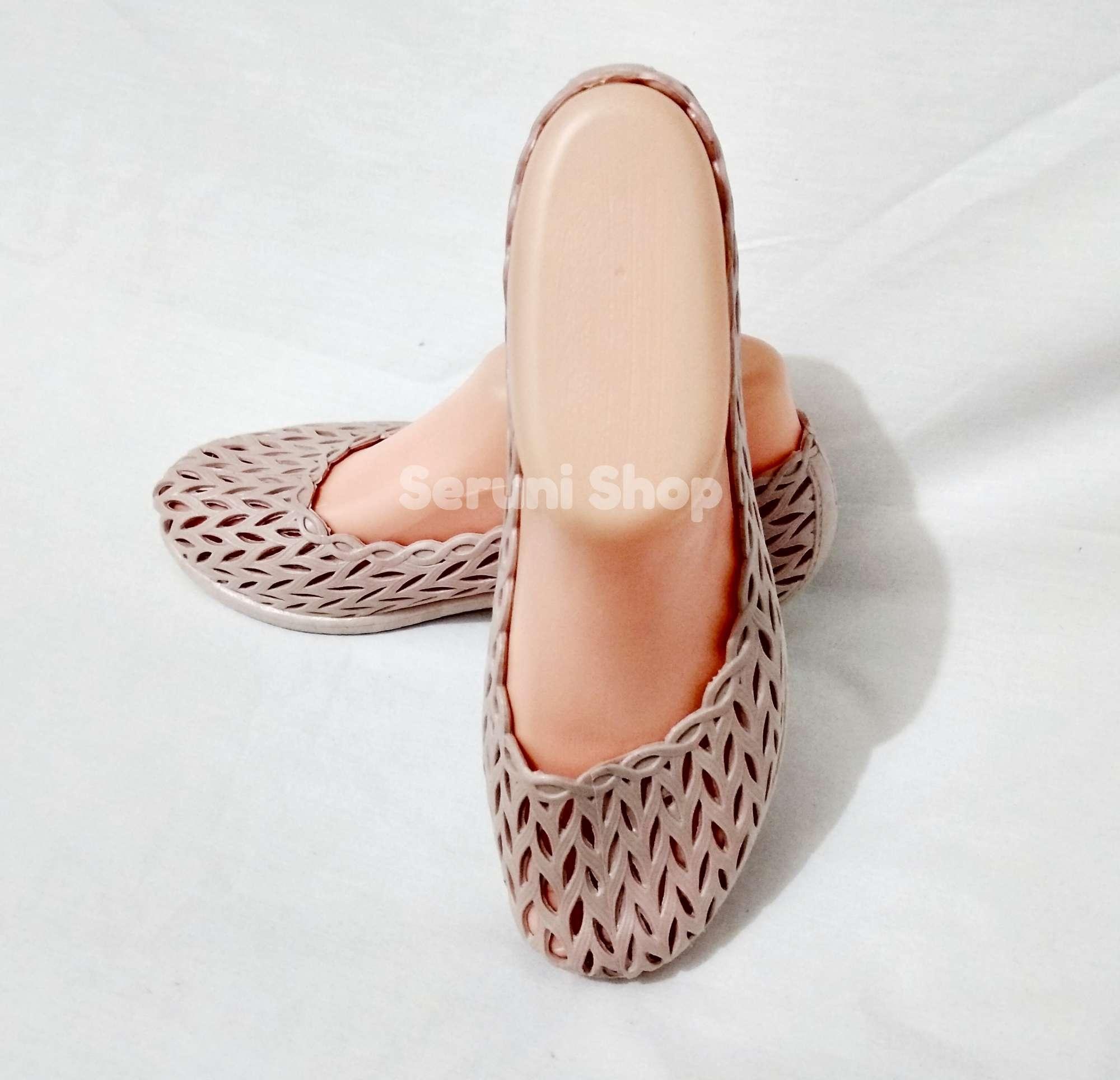 Flat Jelly Shoes Yumeida Lancip Pg1070 Cream Daftar Harga Terbaru Sepatu Kerja Daun Krem 3