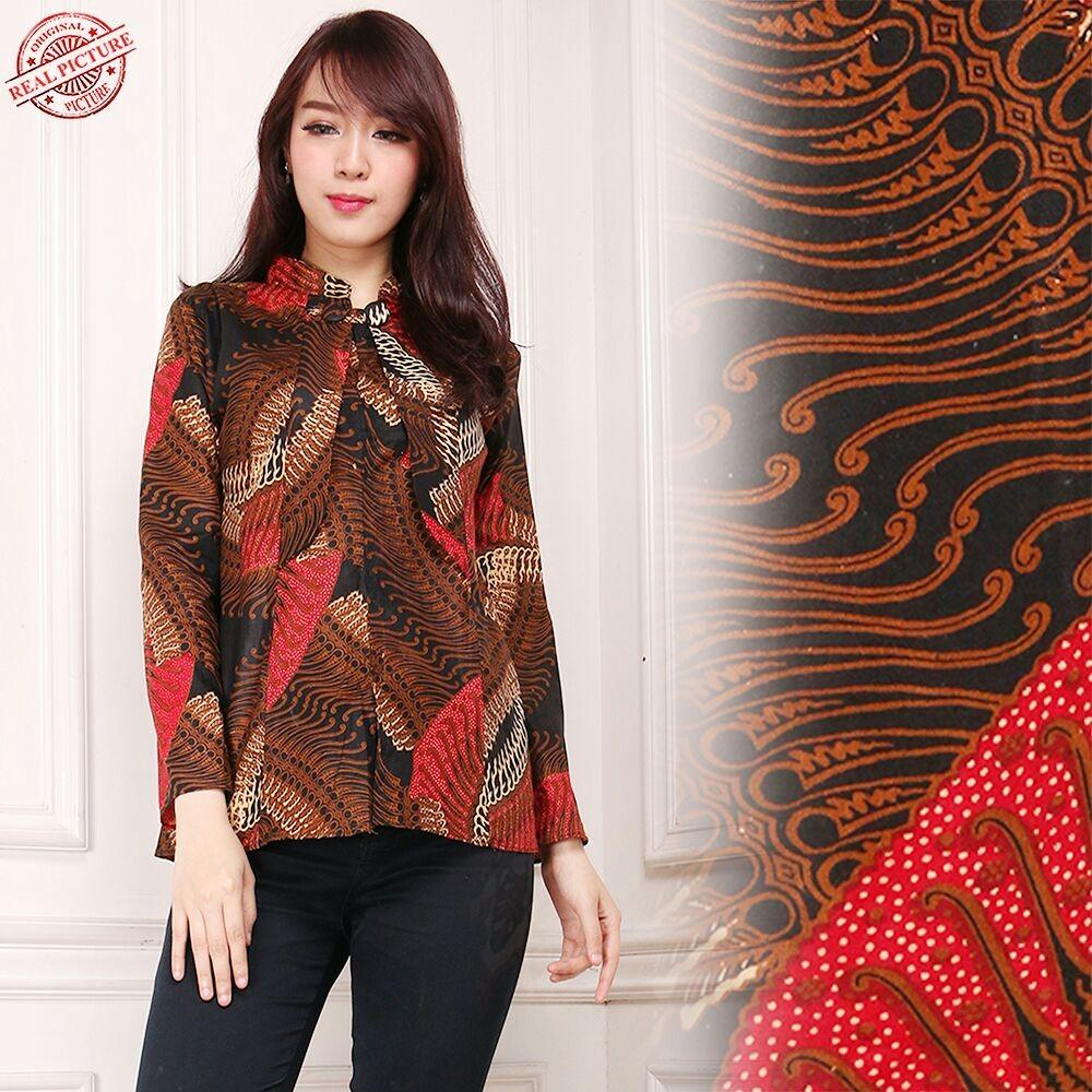 Harga Sb Collection Atasan Blouse Sally Kemeja Batik Lengan Panjang Wanita Sb Collection Asli
