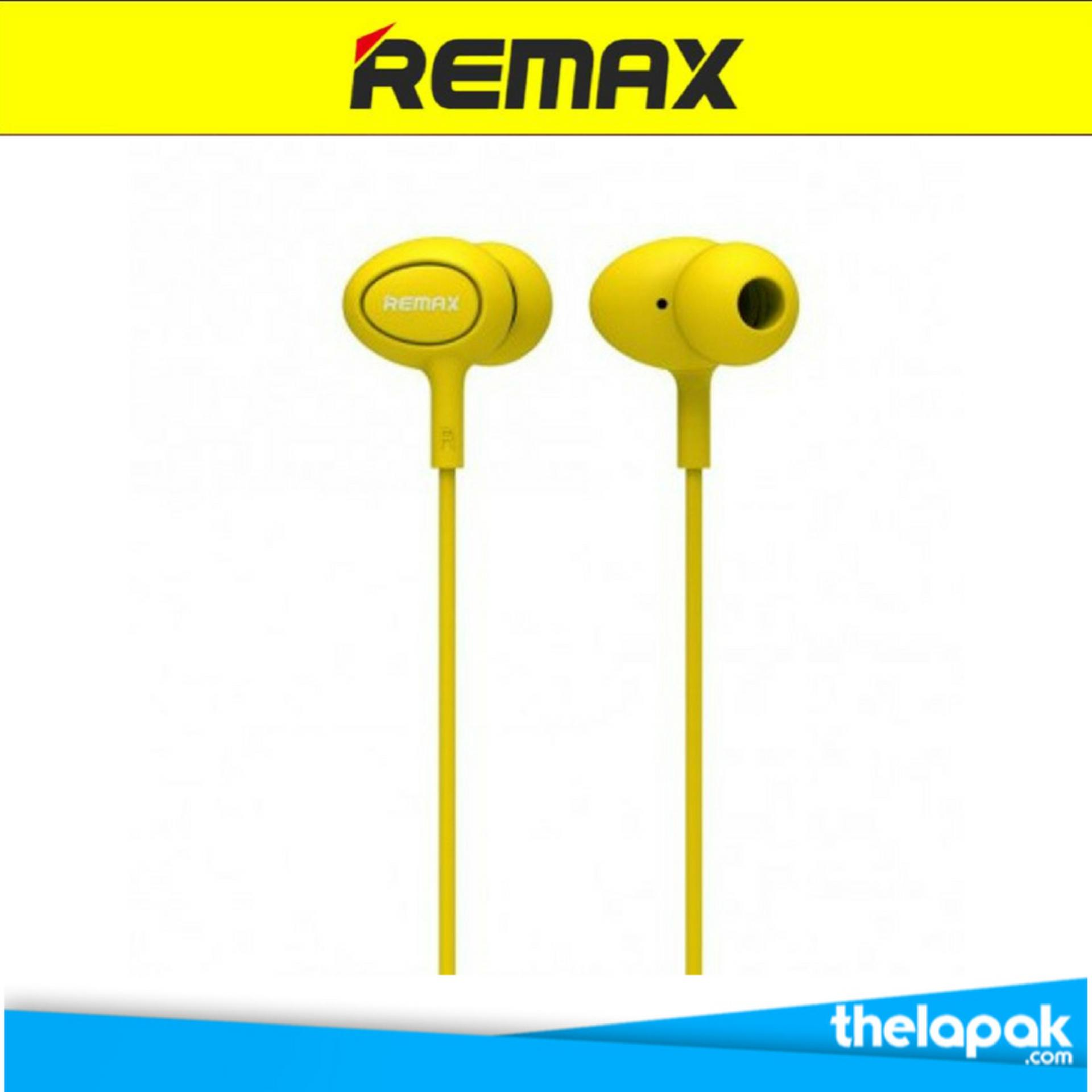 Obral Remax Earphone Rm515 Headset Kuning Murah