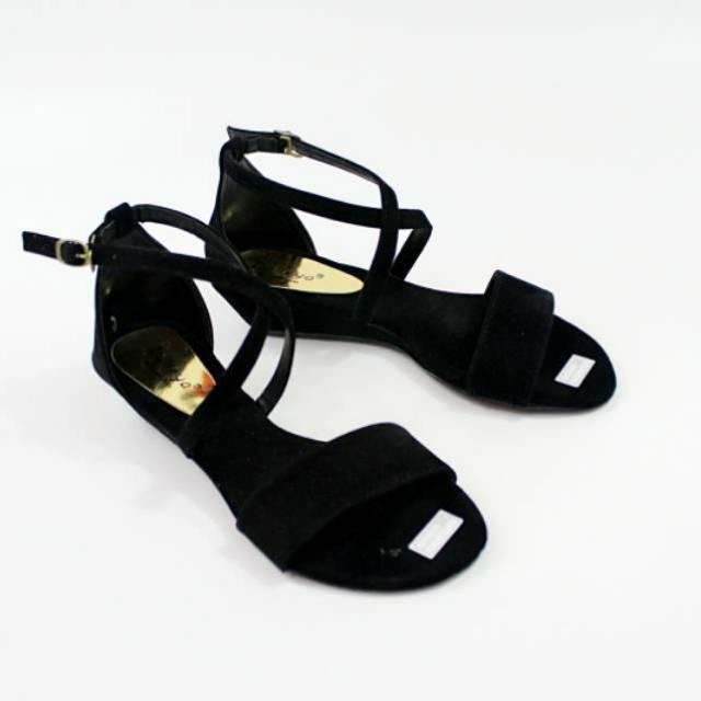 Dalleya sepatu sandal casual wanita Wedges tali silang CRAIN - 2