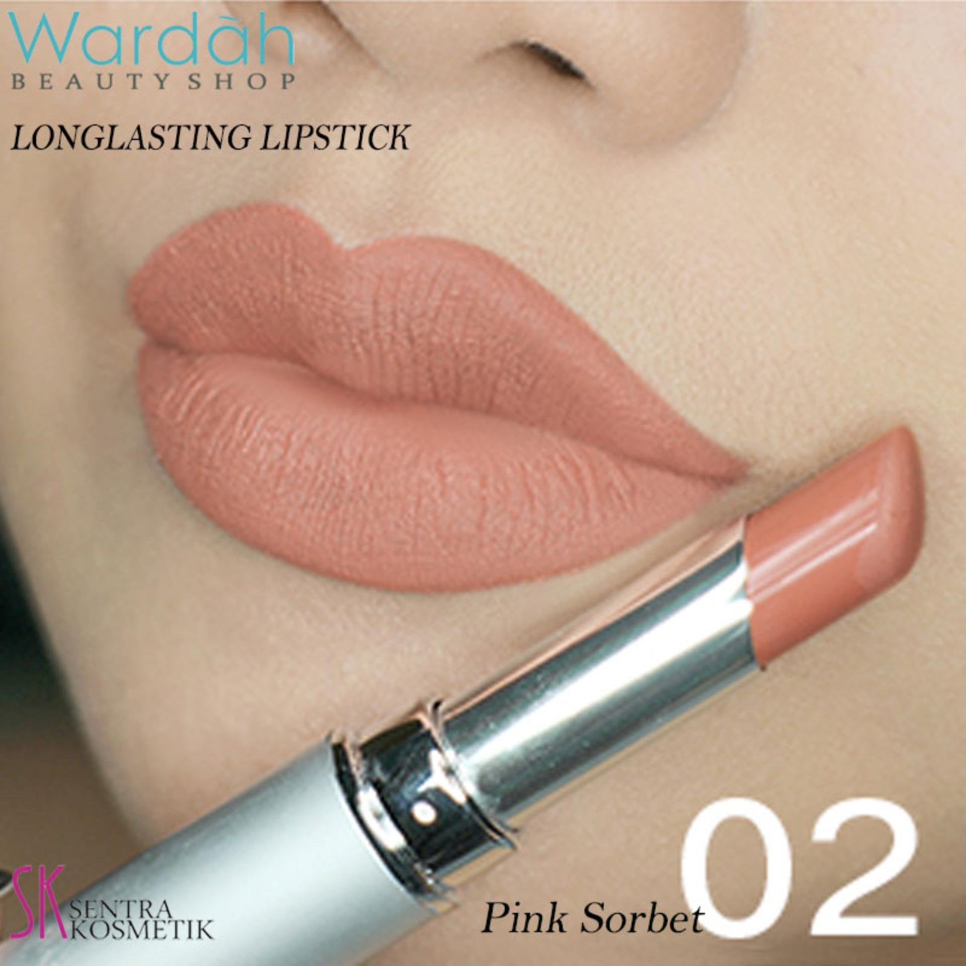 Wardah LONGLASTING Lipstick No.02 Pink Sorbet