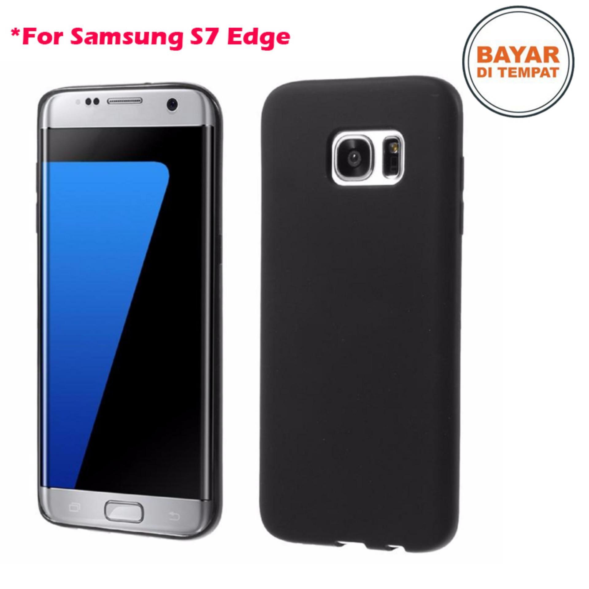 Case Black Matte Soft Slim Samsung Galaxy S7 Edge