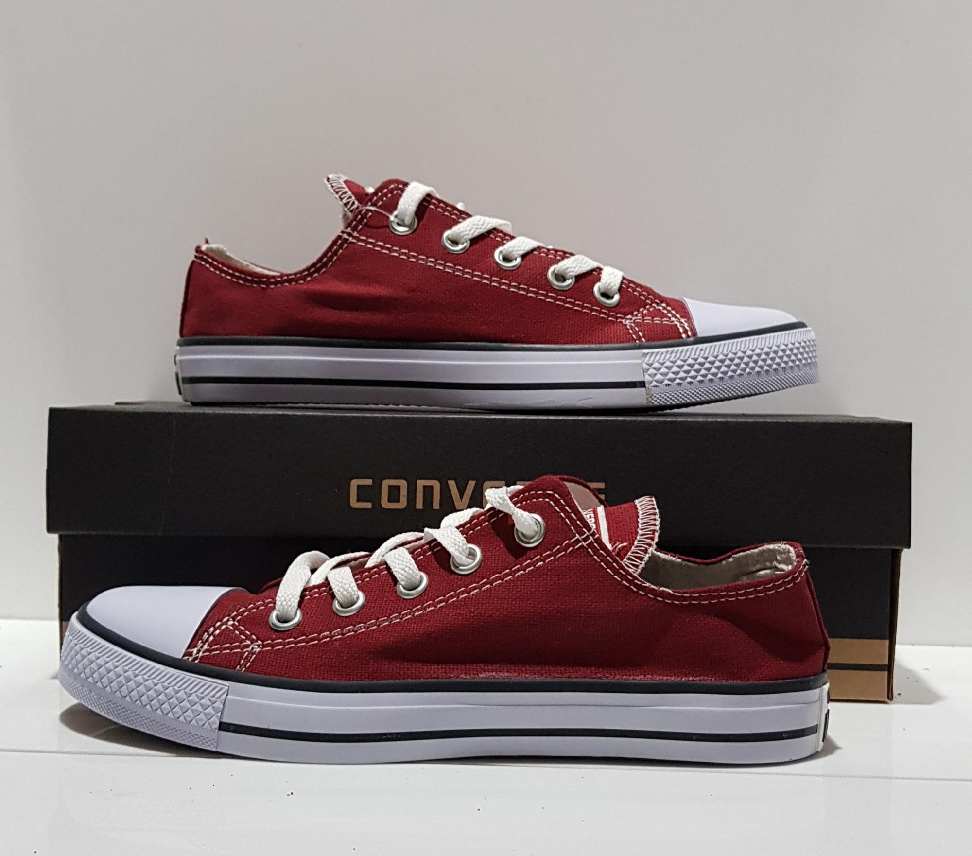 Kelebihan Murahhh!!!!sepatu Converse Allstar Merah Maroon Terkini ... e563633806