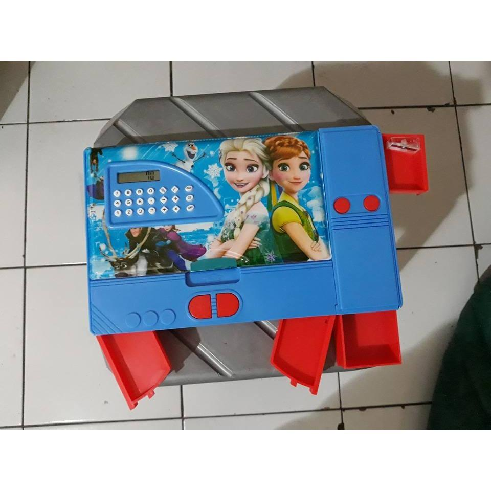 YANTI_FASHION-Box Pensil Set JUMBO / Disney FROZEN Kotak Pensil 3D ImpoRT