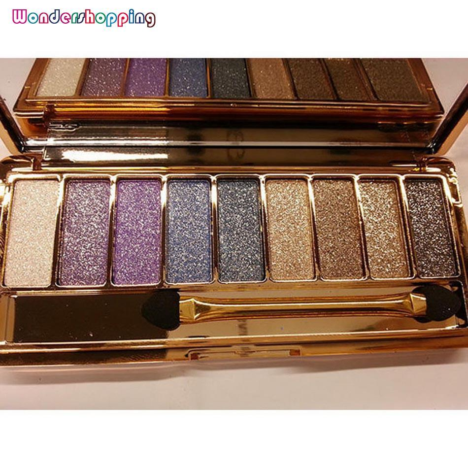 WONDERSHOP KEMEJA ATASAN Waterproof Makeup Eyeshadow Glitter Palette With Brush (Warna #2)-