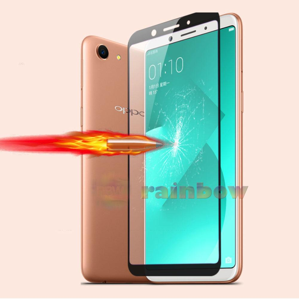 Rainbow Tempered Glass Oppo A83 2018 Full Screen Protector Oppo A83 2018 Coverage Hitam / Anti