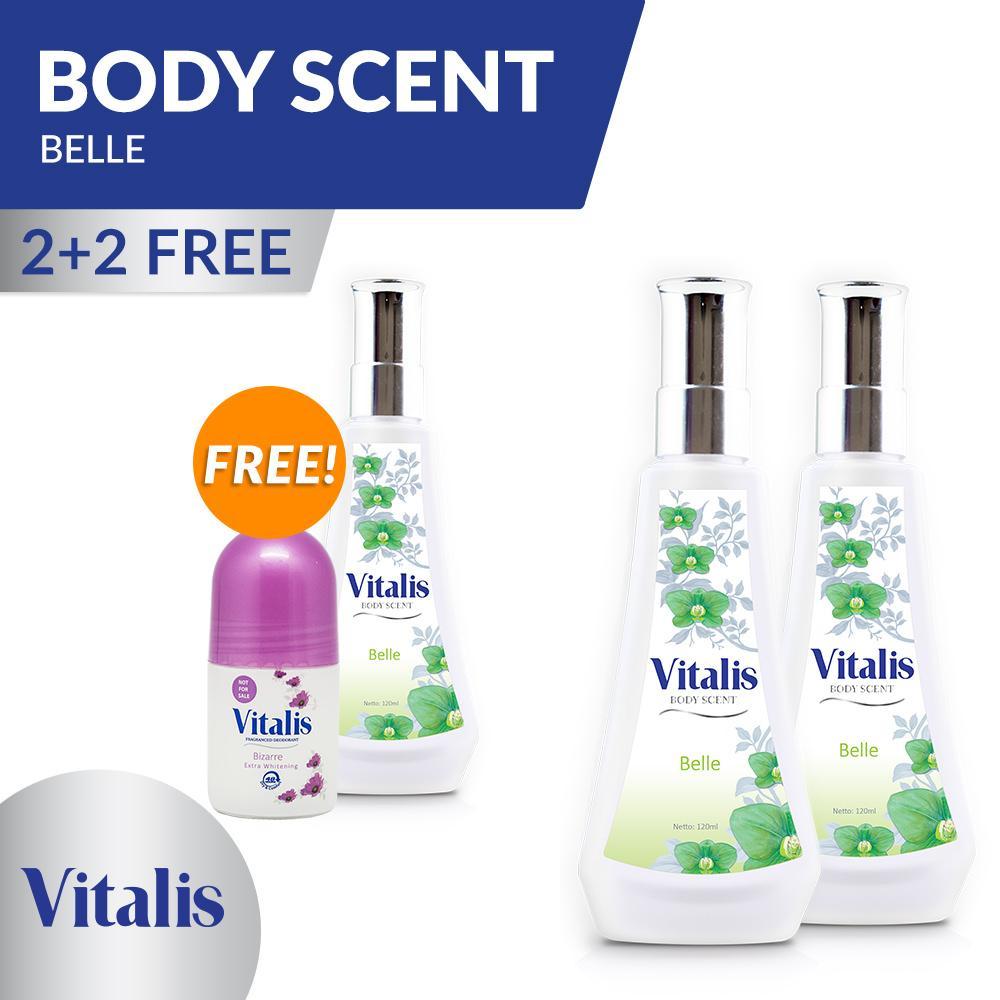 Jual Vitalis Eau De Cologne Perfume EDC Parfum Wanita 100ml Source · BUY 2 GET 1 FREE Vitalis Body Scent Belle 120Ml FREE Roll On