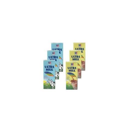 Susu UHT Ultra Milk 200ml Full Cream sak carton