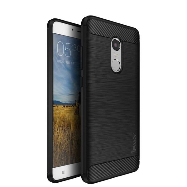 Softcase iPaky Carbon Fiber Shockproof Hybrid Case for Xiaomi Redmi Note 4X - Hitam