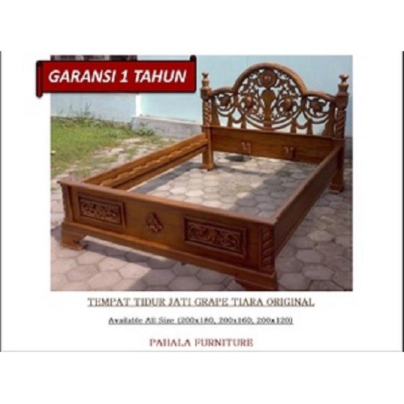 Tempat Tidur Jati Dipan Tiara (Dipan Jati, Ranjang Jati, Kamar Tidur)