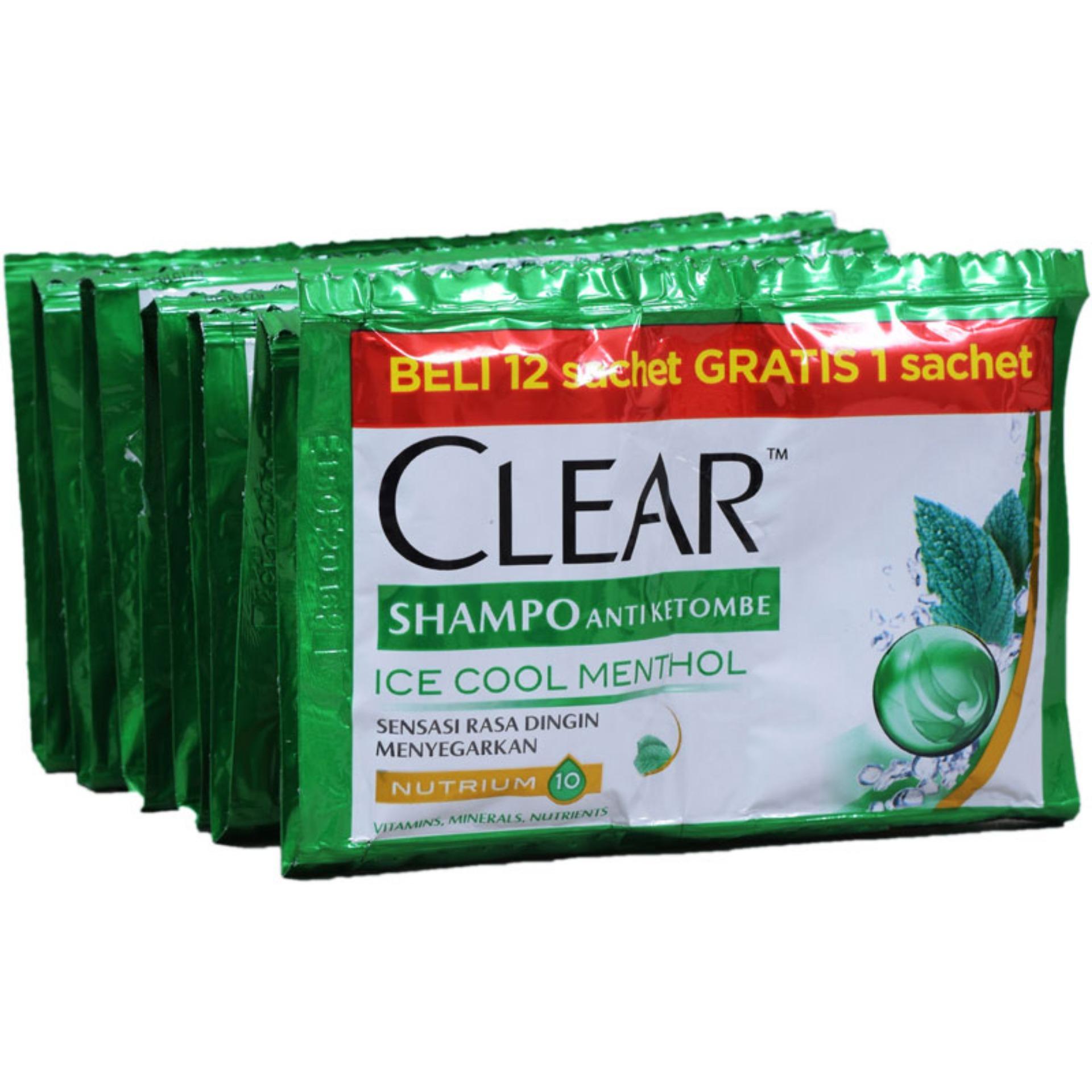 Kelebihan Clear Shampoo Ice Cool Menthol 6x10 Ml Terkini Daftar Head Ampamp Shoulder Sampo 680 2