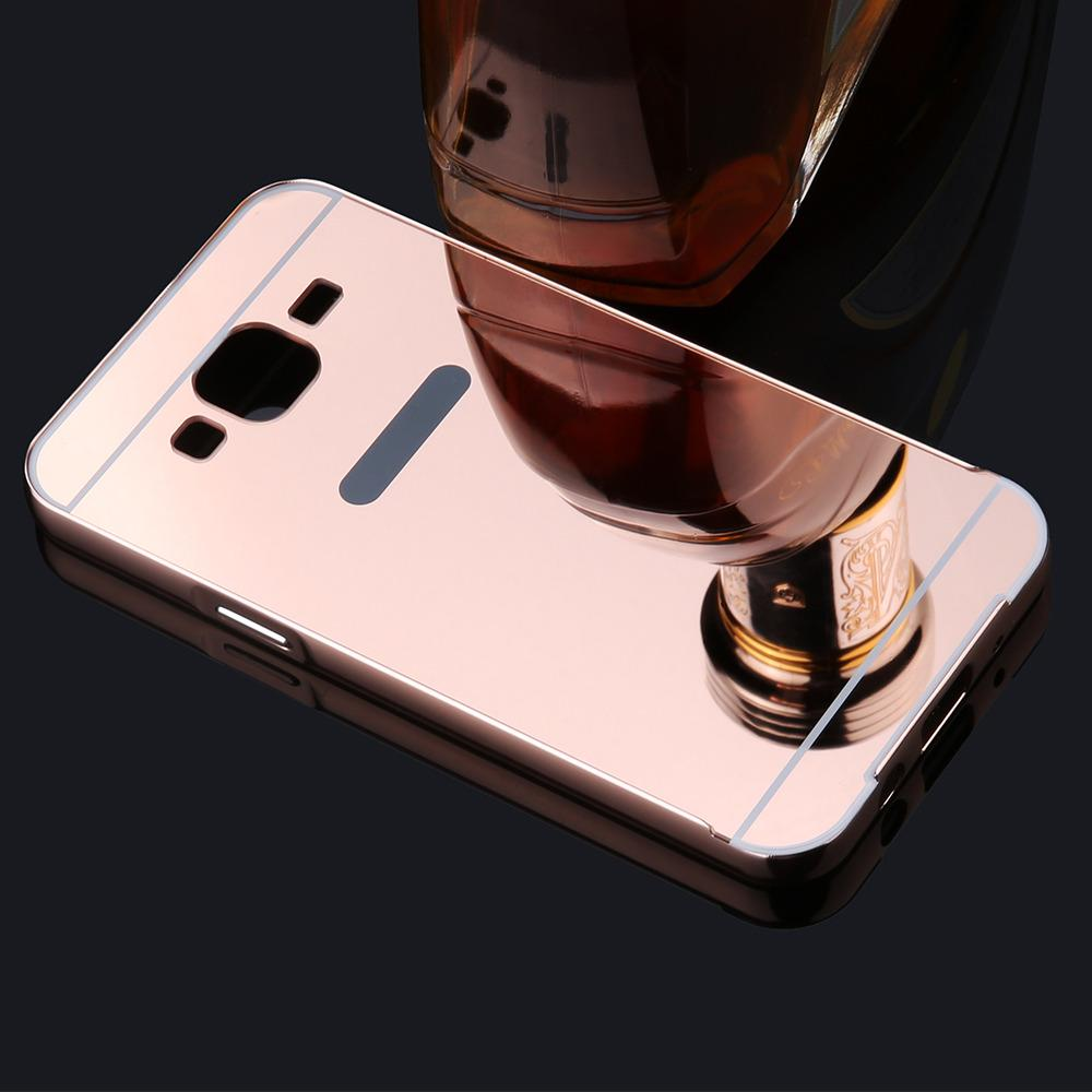 MR Case Bumper Mirror Samsung Galaxy J5 J500 / Case Alumunium Metal Sliding Samsung Galaxy J5