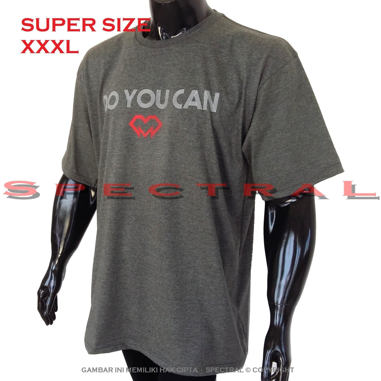 Spectral – 3XL SUPER BIG SIZE XXXL 100% Cotton Combed Kaos Distro Jumbo BIG T-Shirt Fashion Ukuran Besar Polos Celana Olahraga Atasan Pria Wanita Dewasa Bapak Orang Tua Muda  Gemuk Gendut Sport Casual Bagus Keren Baju Cowo Cewe Pakaian 3L DO YOU CAN
