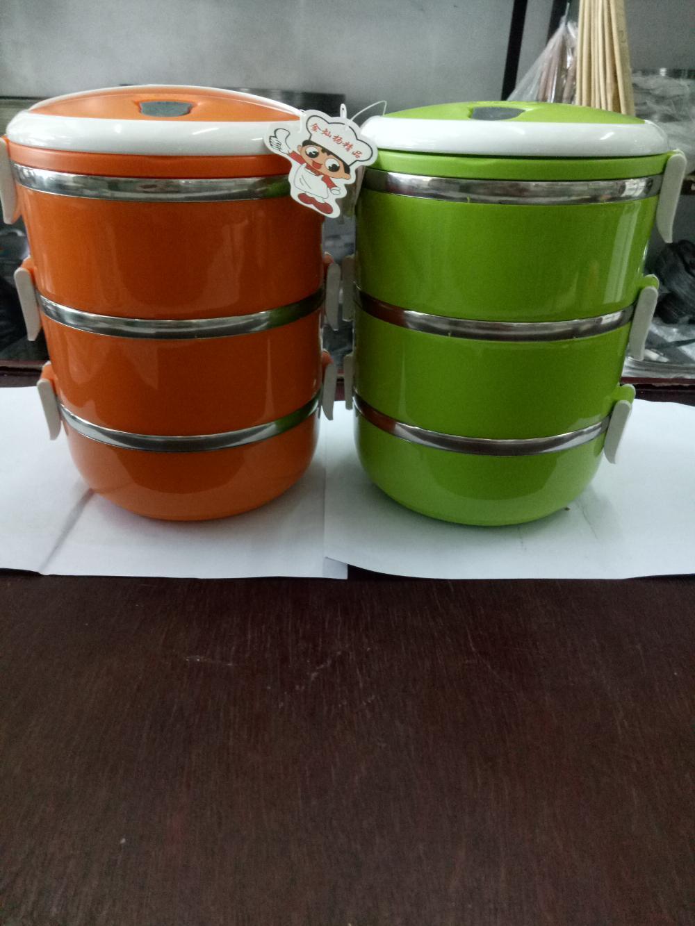 Rantang atau lunch box susun tiga stainlees steel di lapak Erlina erlina507