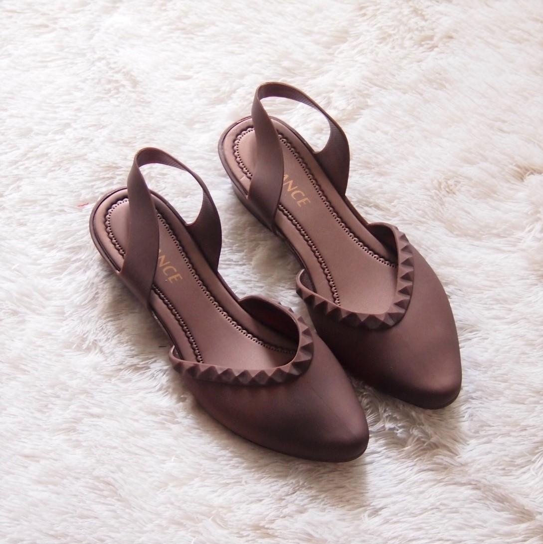 Flat Shoes Jelly Tali Belakang - Sepatu Balet Wanita Usia Tanggung Hingga Dewasa Tinggi 3 cm