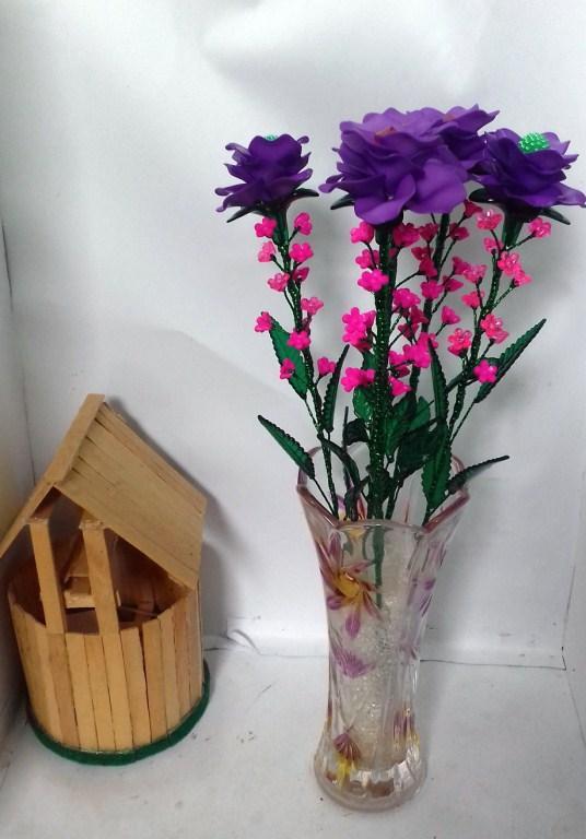 Naindo-Bunga Kristal Akrilik -hiasan ruang tamu   kantor-bunga palsu-bunga d9c9a822cf