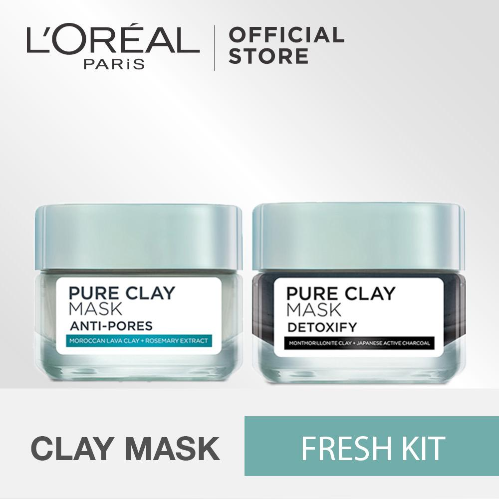 Review Toko L Oreal Paris Pure Clay Mix Mask Fresh Kit Online