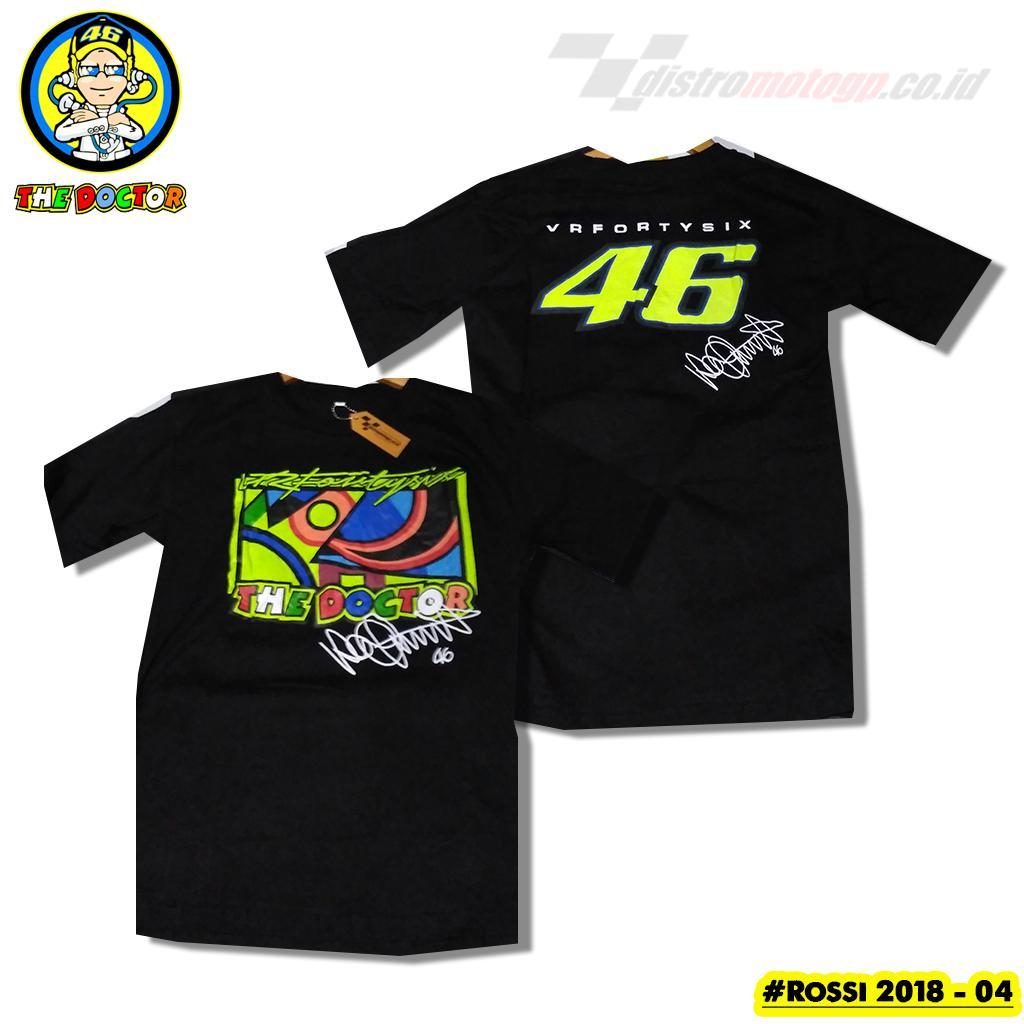 Kaos Rossi The Doctor Kaos MotoGP Valentino Rossi VR46 Kaos Distro MotoGP Rossi VR46 - 04