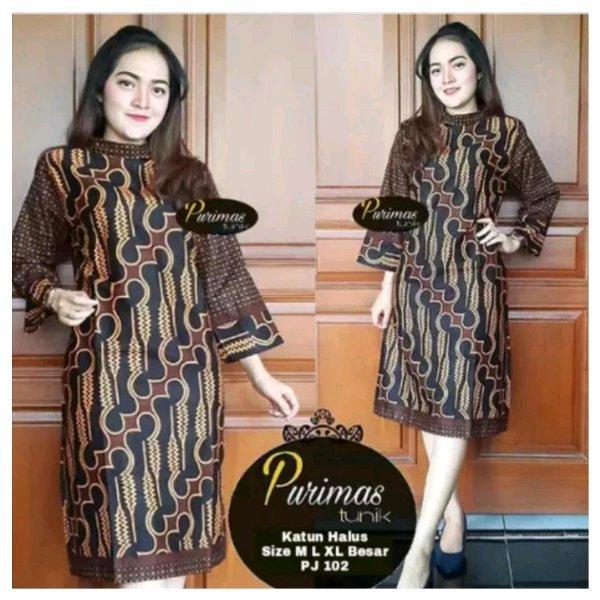 Fashion Neema Fashion Wanita / Pakaian / Atasan Wanita / Blouse & Kemeja Wanita Tunic Batik