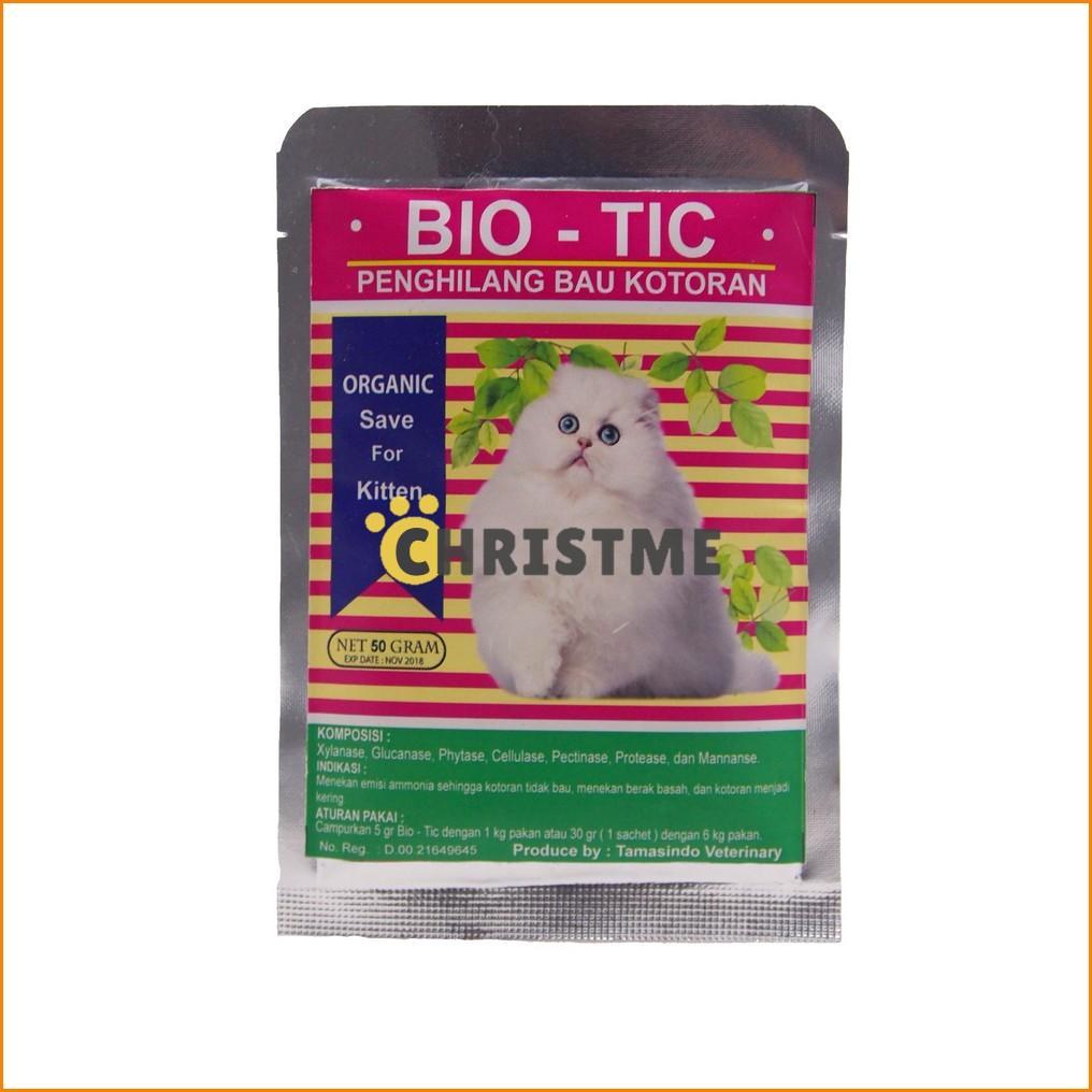 Kotoran Kucing dari Pakan Organik Aman Terbaru. Bio-Tic / Biotic .