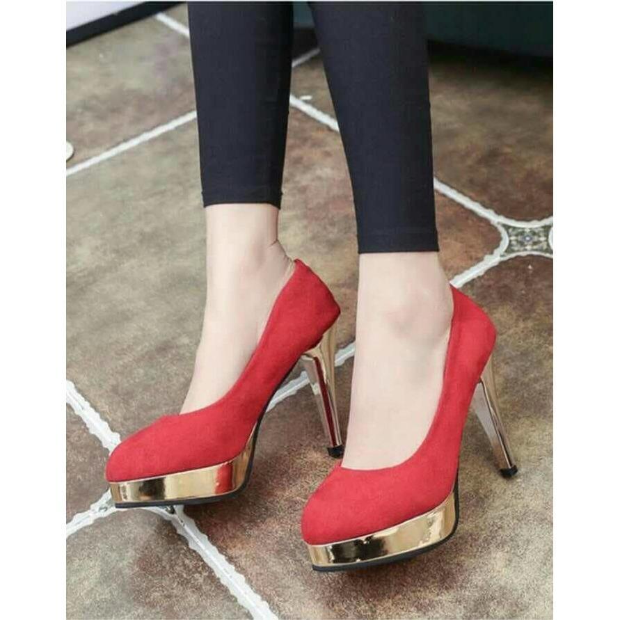 Sepatu High Heels Pump Wanita Tb41 Grey Daftar Harga Terbaru Dan D Detail Gambar Dhala Velvet Sashi Tersedia 2 Warna