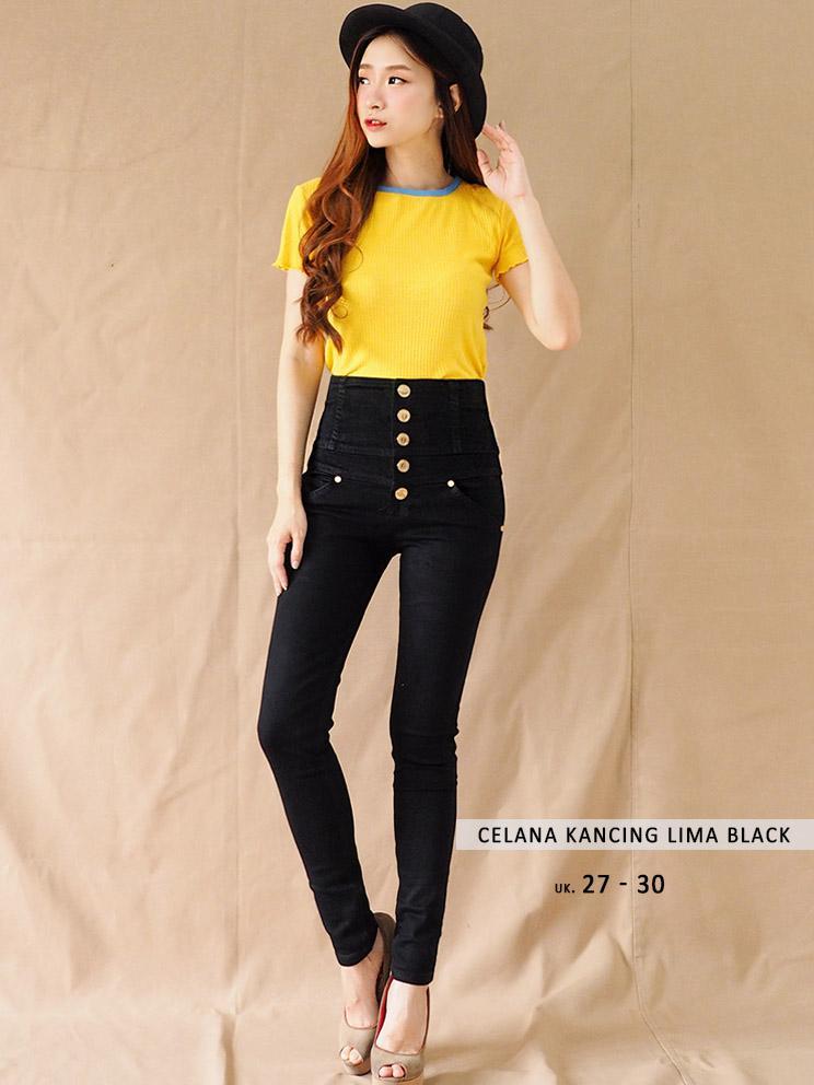 Fitur Terkini Celana Jeans Five Button Celana Kancing Lima Kombinasi