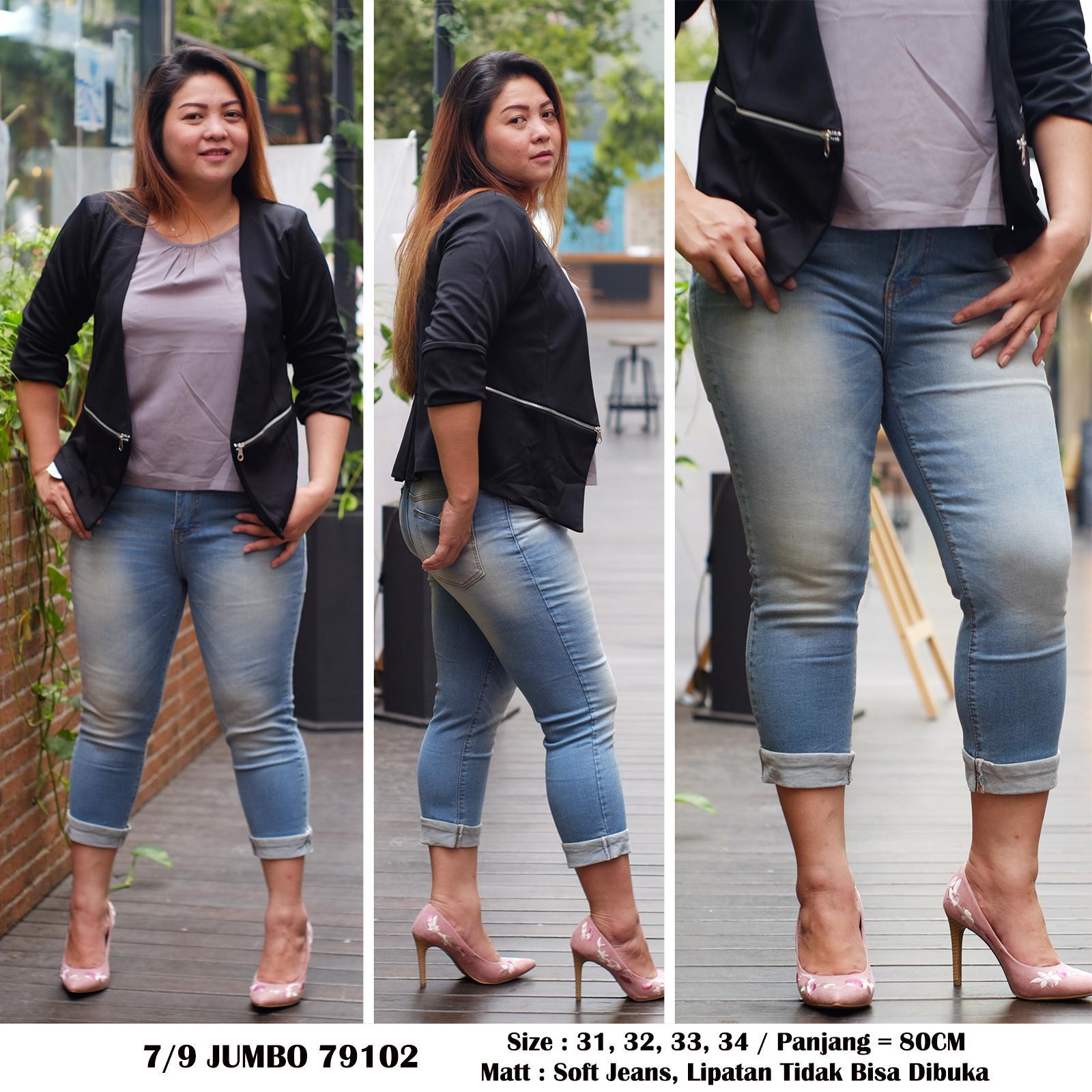 Fitur Rumah Jeans Celana Jumbo Wanita 7per9 79102 Skinny Big Size Detail Gambar Bigsize Terkini