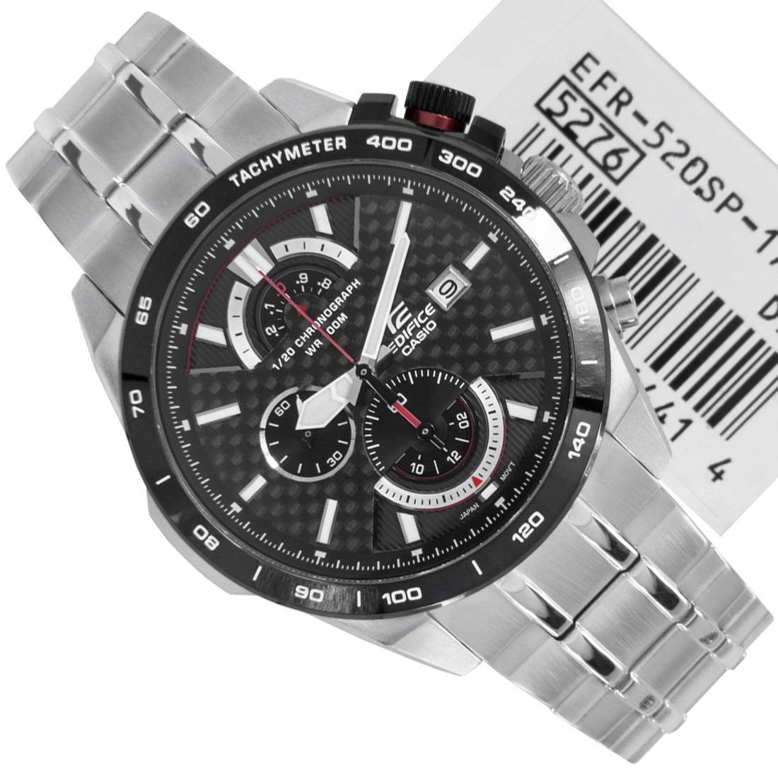 Casio Edifice Efr 303l 1av Hitam Spec Dan Daftar Harga Terbaru 539l Chronograph 520 Series 3