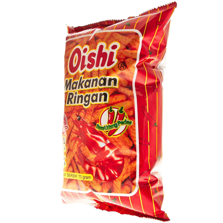 Lihat Oishi Kraker Udang Pedas 70g Dan Harga Terbaru Informasi Rin Bee Stik Rasa Keju 3
