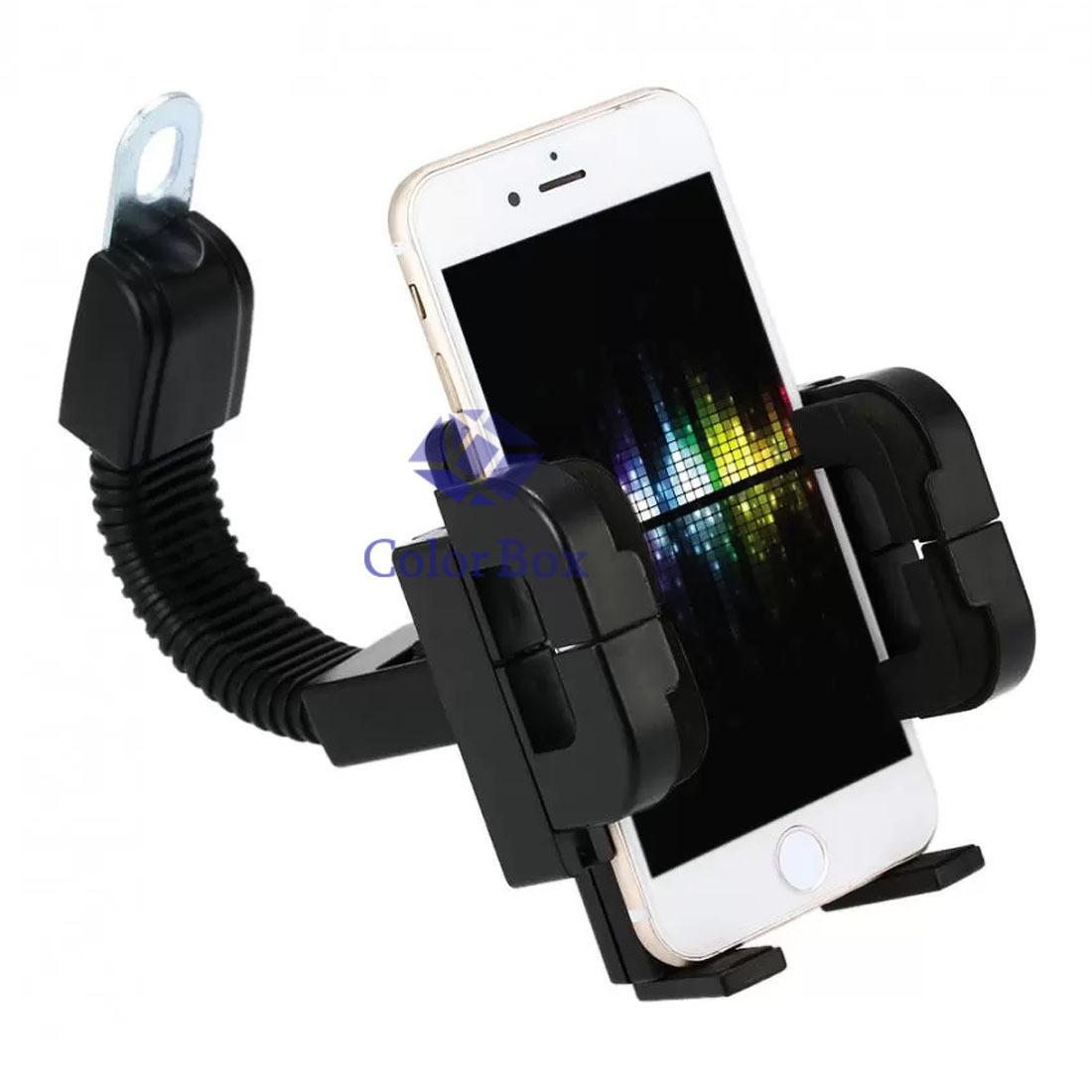 Mr Phone Holder Spion Holder Sepeda Motor Holder GPS Holder Motor Spion Holder Handphone di Motor Holder Motorcycle / GPS Holder Sepeda Motor - Hitam