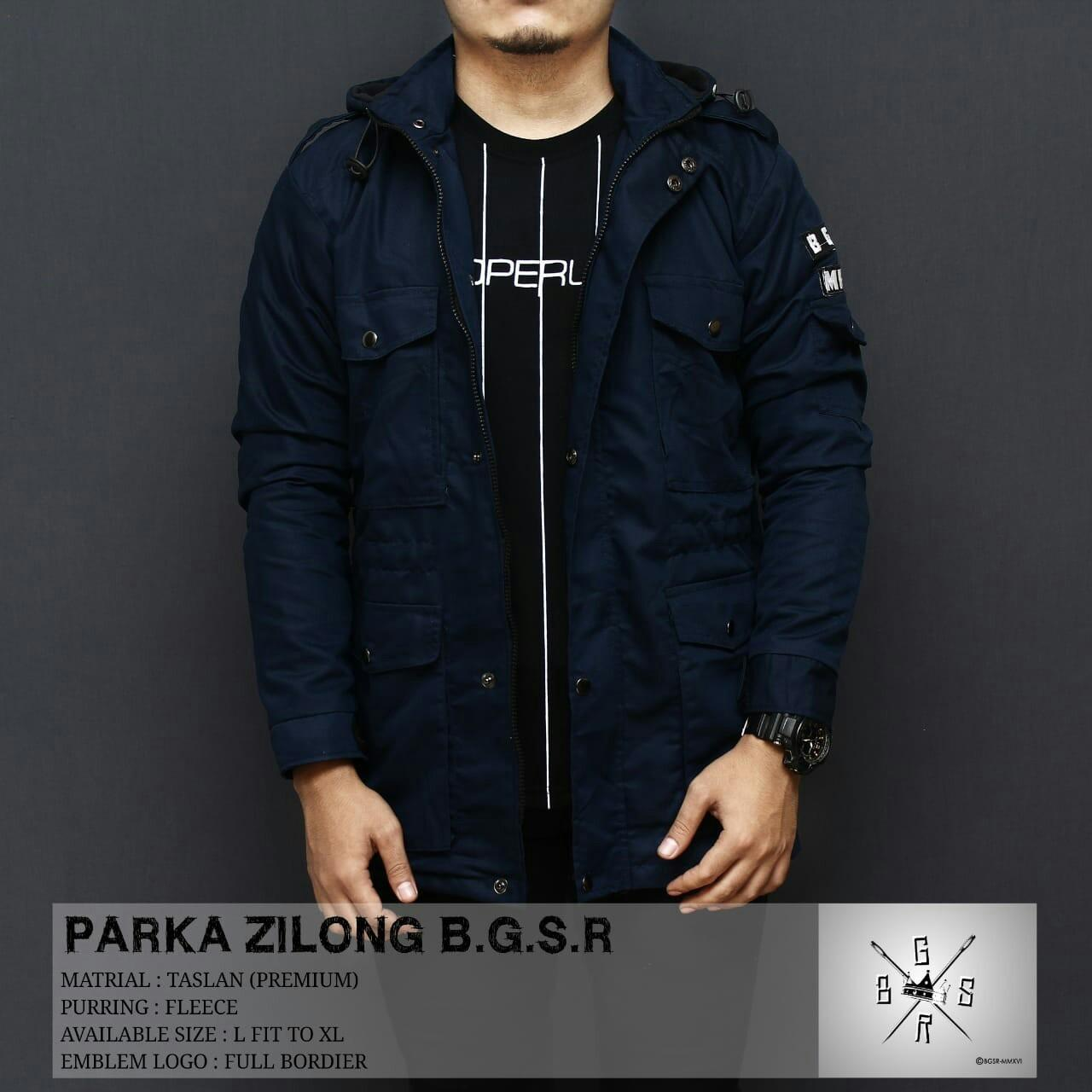BGSR Jaket Parka Zilong - Navy - 2 ...