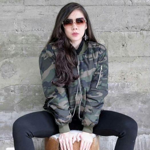 Toko Kei S Jaket Bomber Wanita Army Fashion Wanita Terbaru Jawa Barat