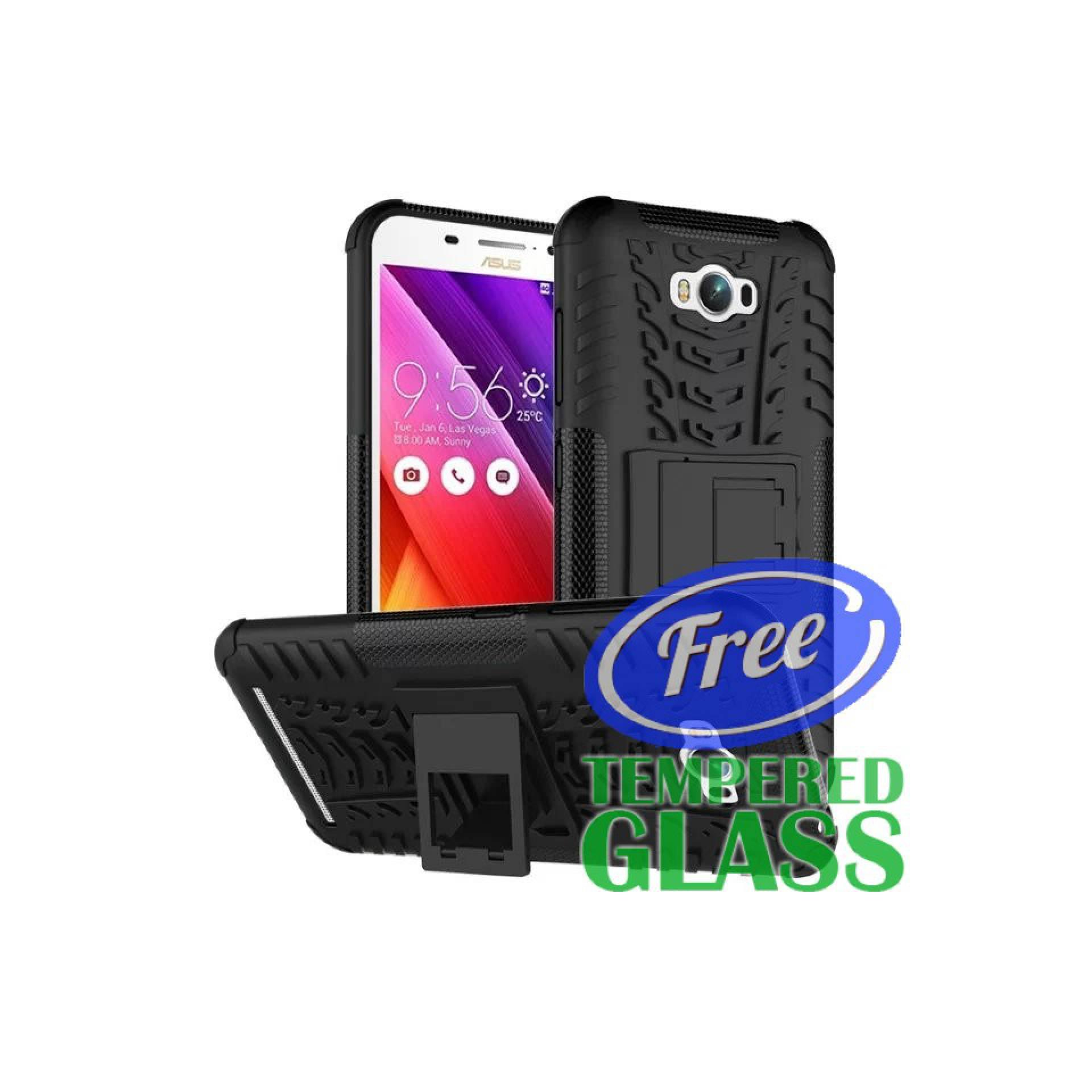 Asus Zenfone Max ZC550KL Backcase Rugged Armor Soft casing cover bagus