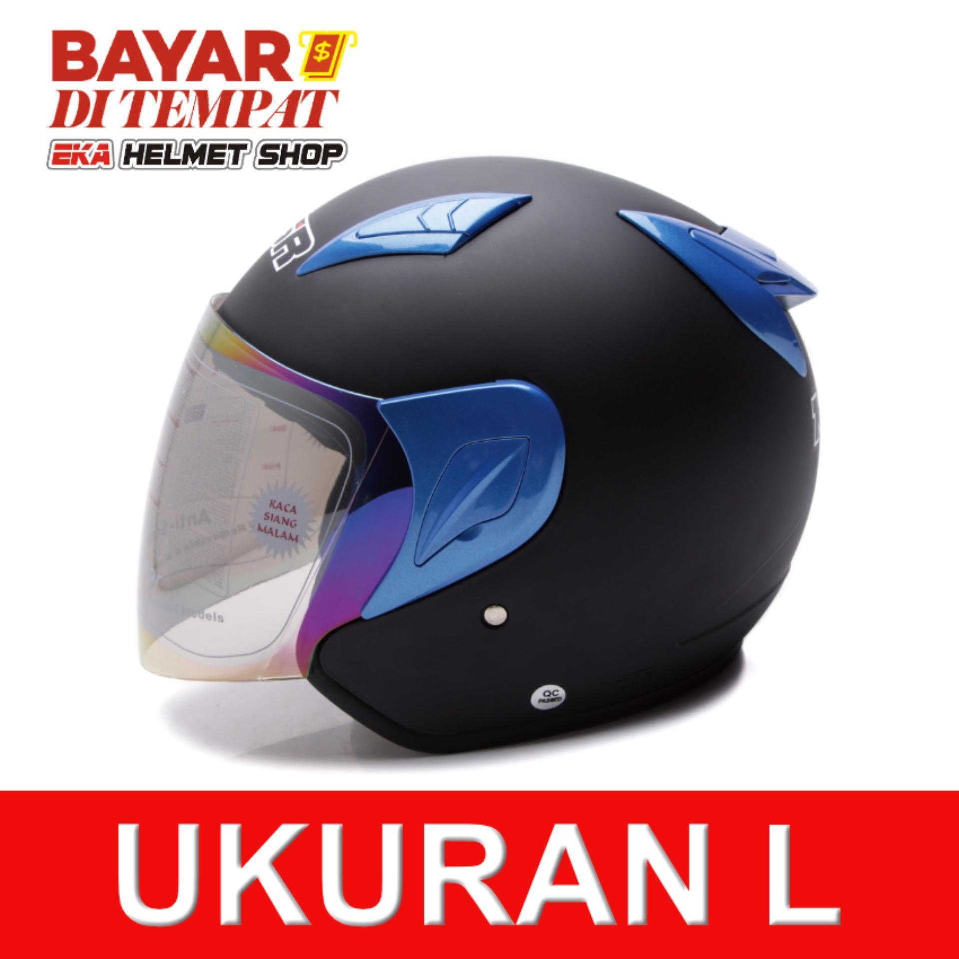 Toko Msr Helmet Javelin Hitam Doff Biru Lengkap